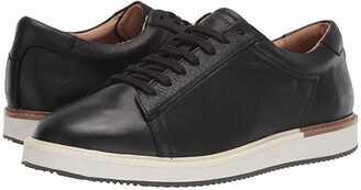 Hush Puppies Heath Sneaker (Black Leather) Men's Shoes