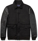 Junya Watanabe Twill and Faux Washed-Leather Jacket