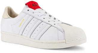 adidas x 424 Shelltoe in White & Red | FWRD