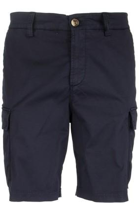 Brunello Cucinelli Garment Dyed Bermuda Shorts In American Pima Comfort Cotton Gabardine With Cargo Pockets