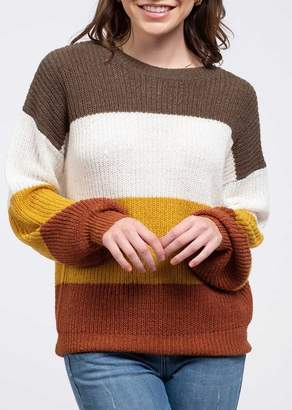 Blu Pepper Colorblock Knit Sweater