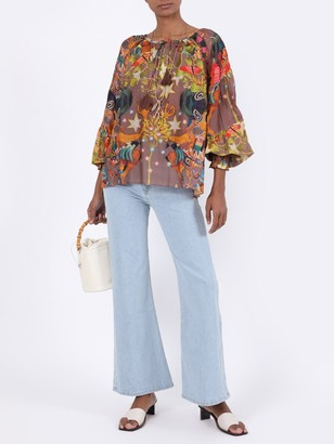 CHUFY Multicolored Abstract Print Blouse