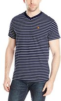 U.S. Polo Assn. Men's Thin Stripe V-Neck T-Shirt