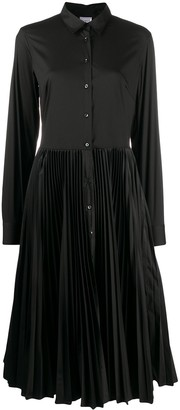 Tosca pleated shirt dress