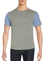 Alternative Short Sleeve Cotton Henley Tee