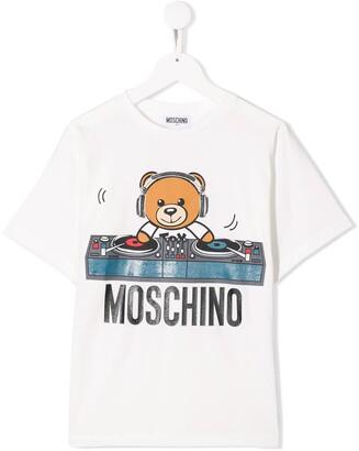 Moschino Kids dj bear T-shirt