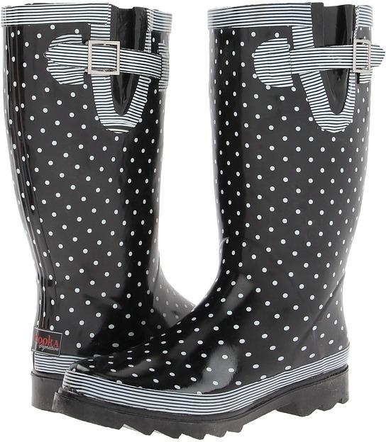 Chooka Classy Classic (Black/White) - Footwear
