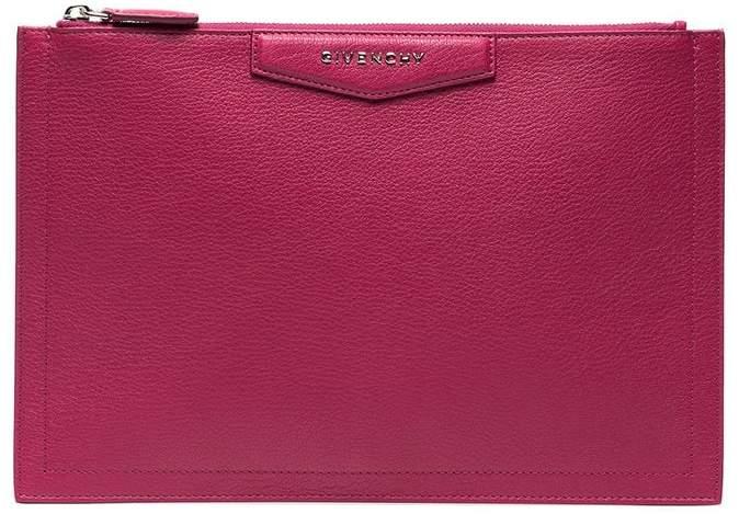 Givenchy Pink Antigona Leather Pouch
