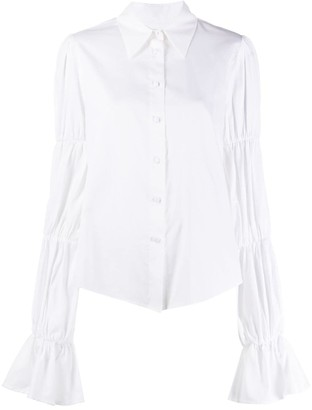 FEDERICA TOSI Tiered Sleeve Pointed Collar Shirt