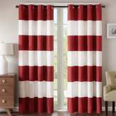 Regency Heights Parker Stripe 108-Inch Grommet Top Window Curtain Panel in Red/White