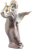 Lladro Porcelain Angel With Lyre Figurine