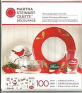 Martha Stewart Crafts - Christmas Decoupage Paper Cut-outs 100 Pc