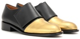 Marni Metallic Leather And Leather Monk Shoes