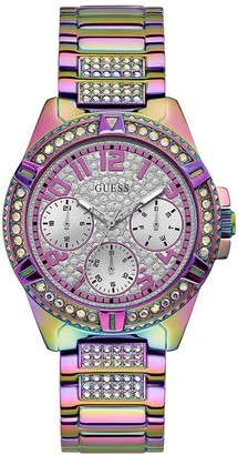 GUESS Lady Frontier Multi Coloured Crystal Set Bracelet Watch
