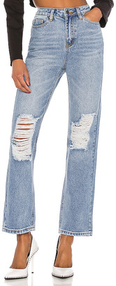 superdown x Draya Michele Agatha Straight Leg Jeans. - size M (also