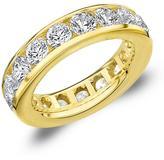 Amour 5 CT TW Diamond 14K Gold Channel-Set Eternity Wedding Band