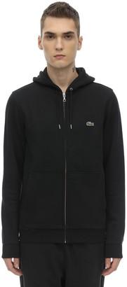 Lacoste Zip-up Cotton Blend Sweatshirt Hoodie