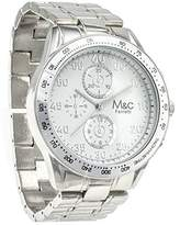 MC M&c Ferretti Men's | Stainless Steel Chronograph White Dial Watch | FT14802