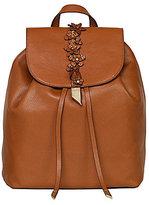 Foley + Corinna Dahlia Flower-Appliqued Drawstring Backpack