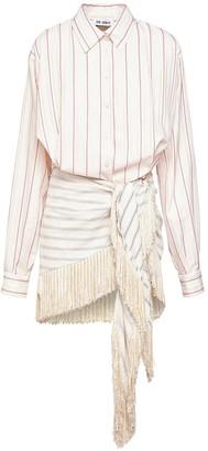 ATTICO Stripe Jacquard Cotton Mini Dress