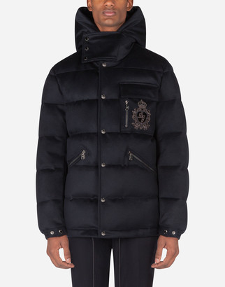 Dolce & Gabbana Quilted Cashmere Jacket With Patch