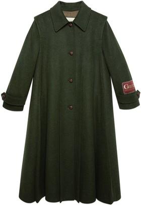 Gucci Wool alpaca coat with label