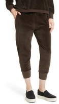 Vince Women's Velour Cuffed Jogger Pants