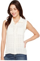 Splendid Sandbar Stripe Button Up Blouse Women's Sleeveless