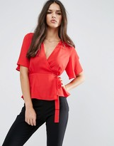 Asos Tea Blouse with Wrap Front