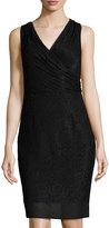 Laundry by Shelli Segal Sleeveless Beaded Sheath Dress, Black