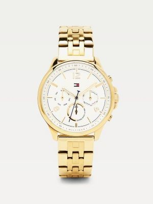 Tommy Hilfiger Gold-Plated Chain Link Watch
