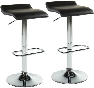 Worldwide Homefurnishings Set Of 2 Worldwide Home Furnishings Fabia Ii Air Lift Stool