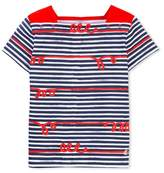 Petit Bateau Girls whimsical striped T-shirt