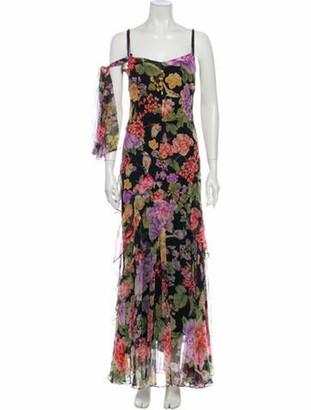 Dolce & Gabbana Silk Long Dress Black