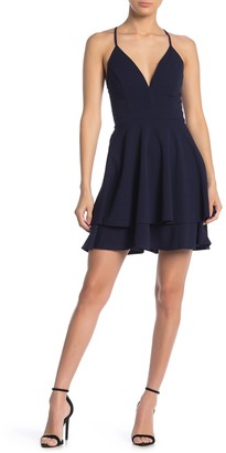 Love, Nickie Lew V-Neck Skater Dress