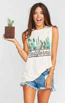 MUMU Mikey Muscle Tank ~ California Cactus Graphic