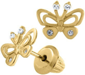 Mignonette 14k Gold Butterfly Earrings
