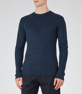 Reiss Reiss Tucan - Wool And Linen Jumper In Blue