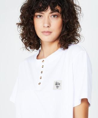 Stussy Paloma Henley T-Shirt White