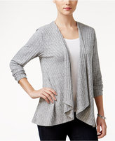 Style&Co. Style & Co. Petite Lace-Back Draped Cardigan, Only at Macy's