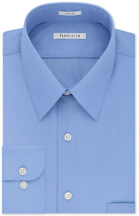 Van Heusen Men Classic-Fit Poplin Dress Shirt