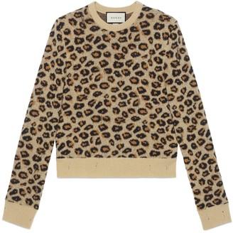 Gucci Leopard wool jacquard sweater