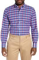 Ledbury Seabrooke Slim Fit Plaid Cotton & Linen Dress Shirt