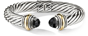 David Yurman Cable Classics Bracelet with Black Onyx and 14K Gold, 10mm