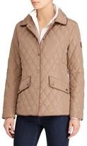 Lauren Ralph Lauren Women's Faux Leather Trim Quilted Jacket