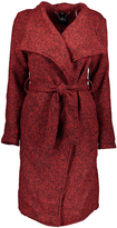 Red Tweed Wrap Coat - Plus Too