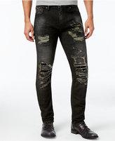 GUESS Men's Slim-Fit Tapered Platform Wash Jeans