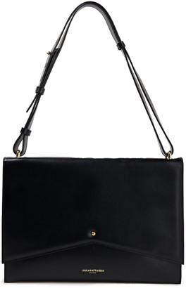 Sara Battaglia Delfine Pleated Color-block Leather Shoulder Bag