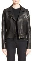 Versace Women's Asymmetrical Zip Leather Jacket