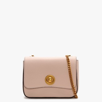 Smaak Kira Pebbled Pink Leather Chain Cross-Body Bag